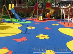 Floor for a playground