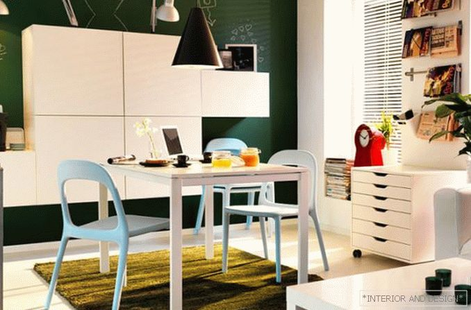Examples of decorating a room with furniture from Ikea 1